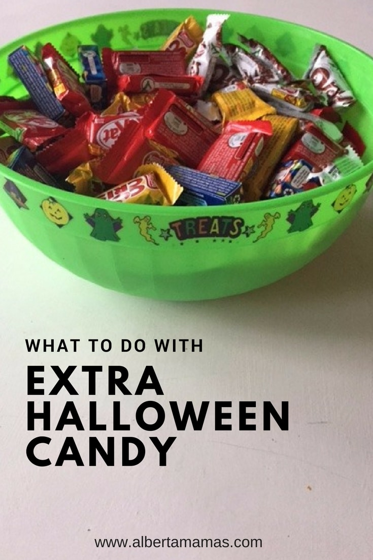 Ideas for what to do with extra Halloween candy