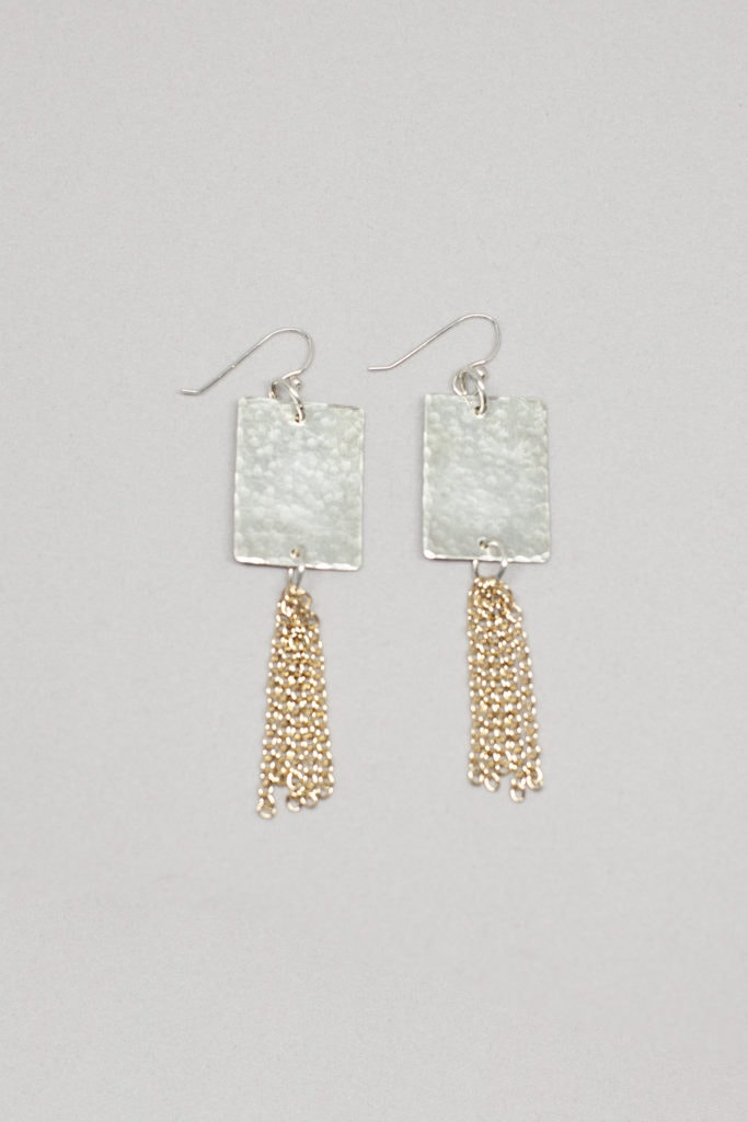 Twig and Velvet Earrings